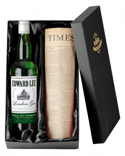 Personalised Gin and Newspaper Giftpack